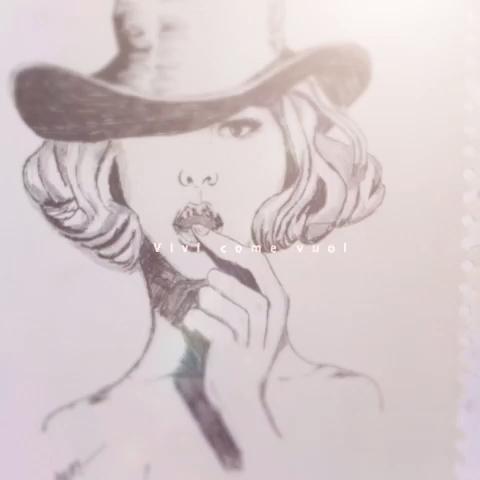 圆珠笔牡丹画