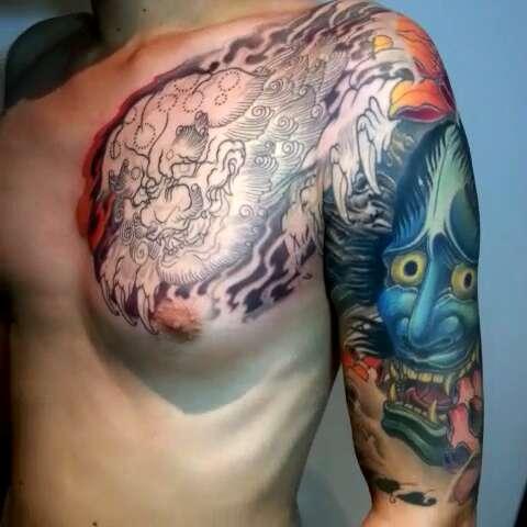 般若半甲纹身手稿图片展示图片