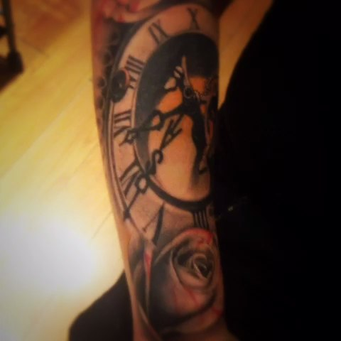 钟表纹身图片