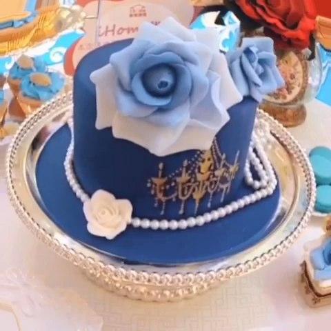 奢华复古婚礼甜品台&蓝色小清新婚礼甜品台