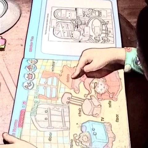学习#幼儿园的书非常爱惜