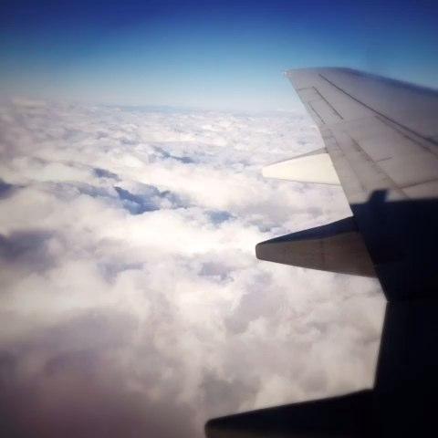 飞机上的云