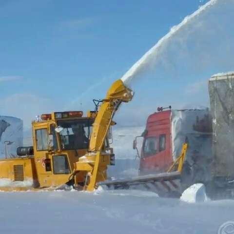 大家看看这就是下雪后新疆塔城