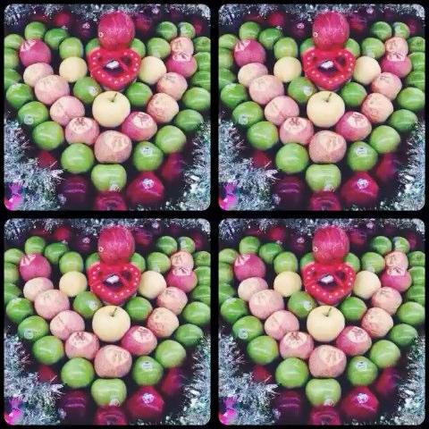 幼儿园平安果手工制作图片