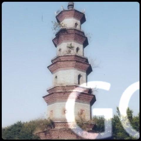 惠州四洲塔手绘图片