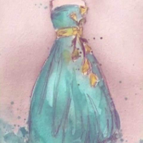 手绘水彩服装设计.#手绘服装设计