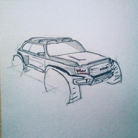 哈弗汽车简笔画