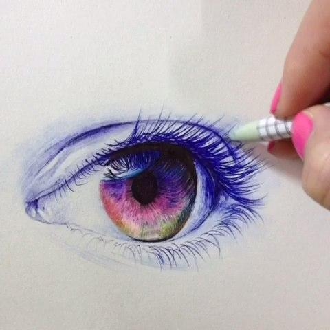练习手绘眼睛