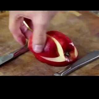 #美食##苹果##diy#用苹果做个小天鹅,是不是都不忍心吃了?