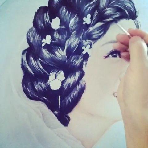 彩铅真人##手绘彩铅画##最美新娘#第一次用延时拍摄