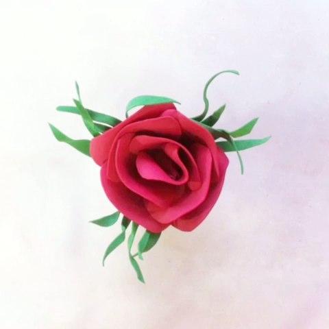 玫瑰花手工diy,材料:海绵纸