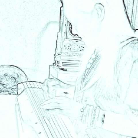 古琴变形手绘图片