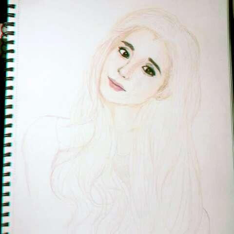 文艺少女手绘彩铅