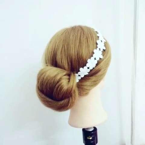 中式新娘发型##时尚##盘发##新娘造型#一款适合中式