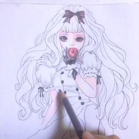 我爱画画##彩铅手绘#闲就画画吧!送给学生的漫画