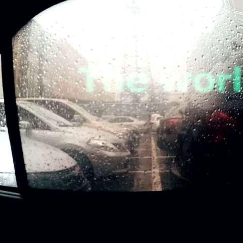 在车里照的风景