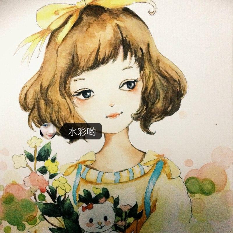 随笔漫画##手绘##手绘水彩画##萌少女# - 猫女洛杉的