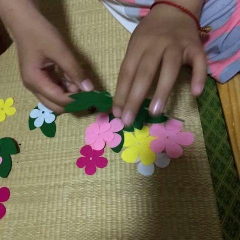 布织布手工花(一)