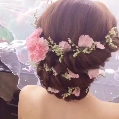 新娘发型#鲜花新娘发型!美美哒!