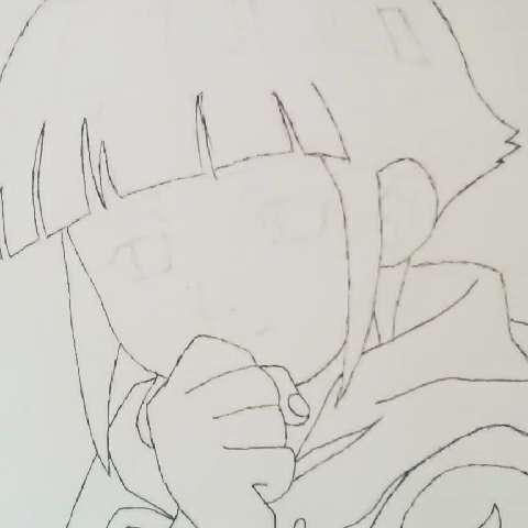 动漫##日本动漫##火影忍者##日向雏田#我是上色手残党,用彩铅上的色