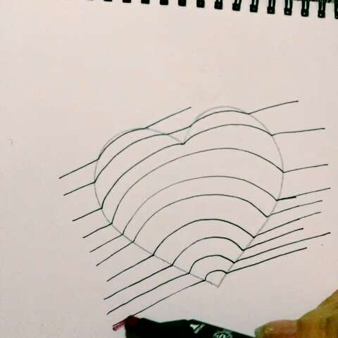 3d手绘,超简单,都来试试吧#60秒美拍##周一##手绘#我也是第一次画