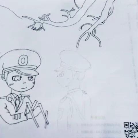 卡通解放军教程#画画教程