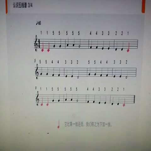 钢琴基本知识,认识五线谱,认识高音,指法标识,学习手势.图片