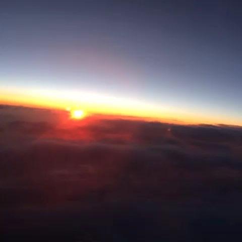 飞机上看风景#美丽的朝霞.
