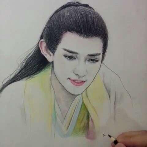 手绘彩铅画##我是女神##百变女神##我要上热门# 有喜欢的明星写在评论