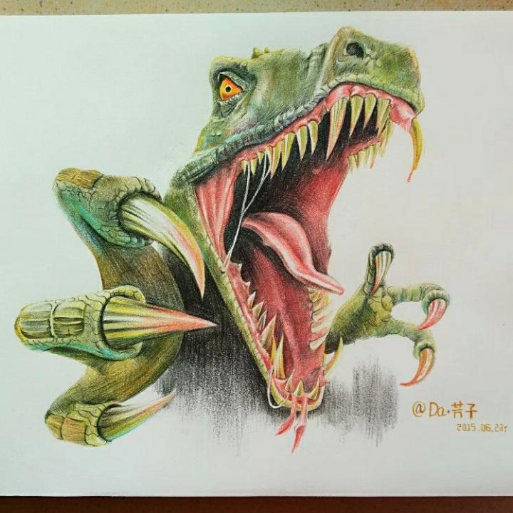 创意手绘彩铅动物