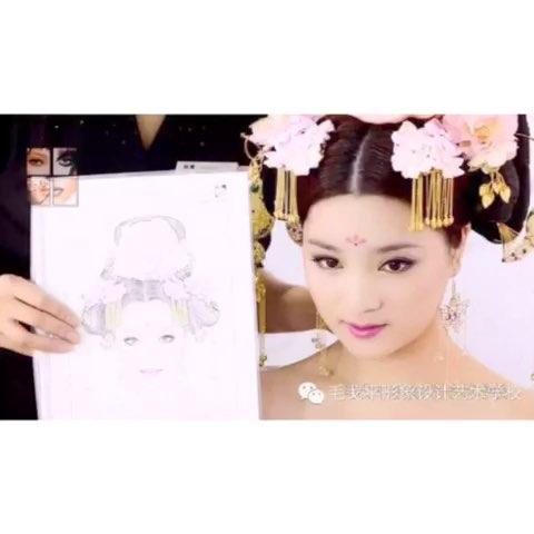 唐妆造型重磅来袭~唐代女子的妆容及发饰就是这么 (480x480)-国学图片