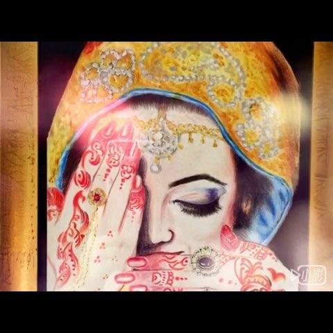 印度新娘#60秒美拍##手绘##女神