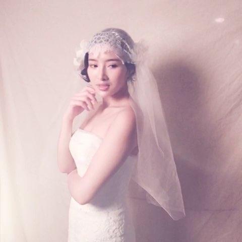 惠惠chen新娘造型馆 化妆培训#惠惠老师亲手制作的实用头纱图片