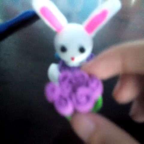 彩泥手工动物  兔子