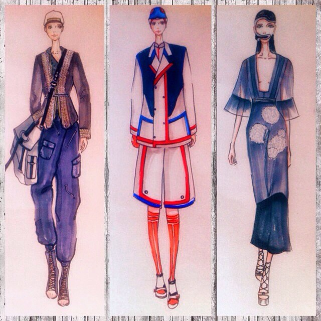 随手美拍##服装设计手稿##服装设计##服装设计手绘
