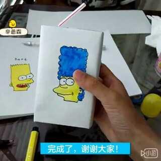 DIY手绘牛奶盒