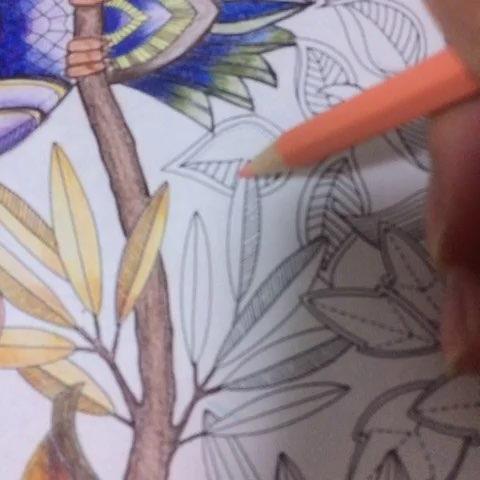 画树叶画的头疼