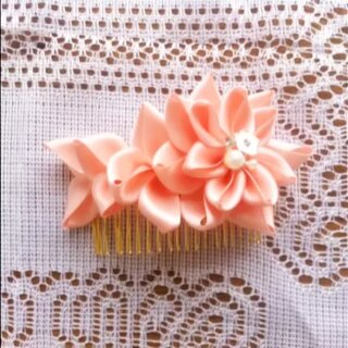 花瓣缎带发插
