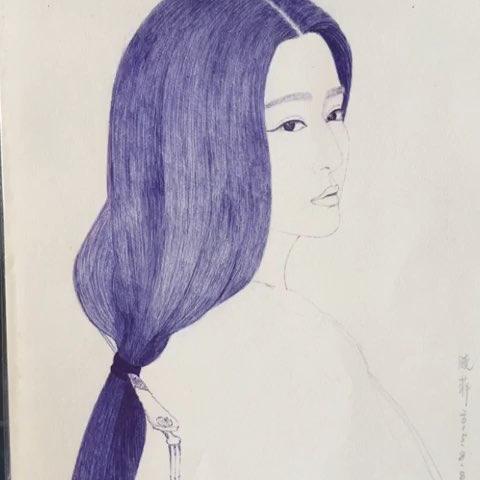 范冰冰杨贵妃#圆珠笔手绘##圆珠笔手绘肖像##手绘