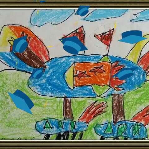 幼儿园大班宝宝的美术作品!(一)#1980木木儿童美术