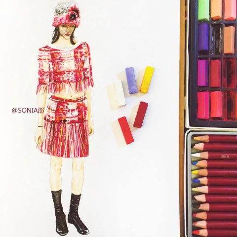大图在微博 #手绘##创意手绘##服装设计##手绘服装设计##服装手绘