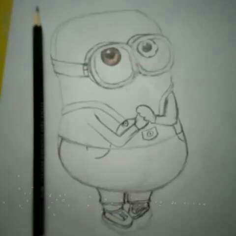铅笔画人小黄人