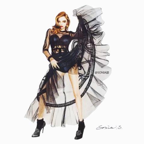 手绘时装画大图在微博