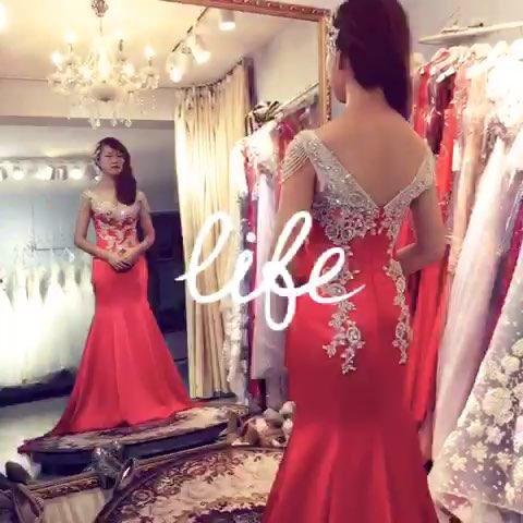 【欣薇造型婚纱坊】#鱼尾婚纱晚礼服##新娘造型##婚纱设计的另一角度