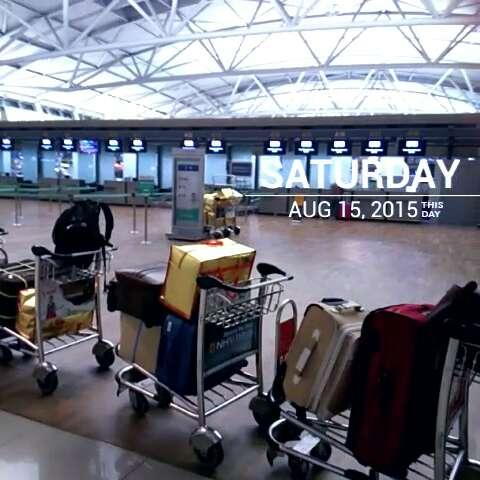 飞机场#要回青岛喽
