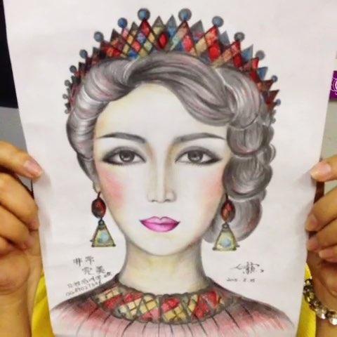 画画##手绘彩铅画##巴洛克风格##非常完美化妆素描美人图#想了解更多