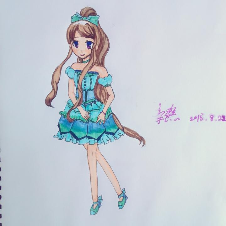 随手美拍# #随笔漫画# #手绘漫画# #手绘女生漫画# #马克笔手绘# 70
