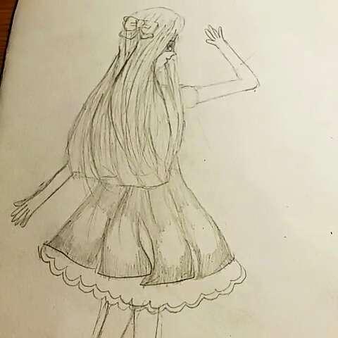 铅笔画女生☆可爱装扮