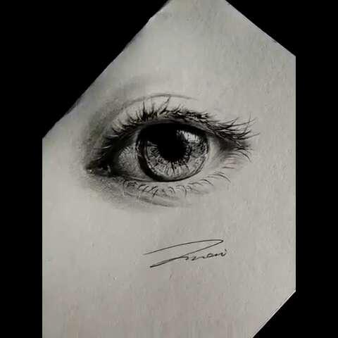 手绘彩铅画##最美眼睛大赛