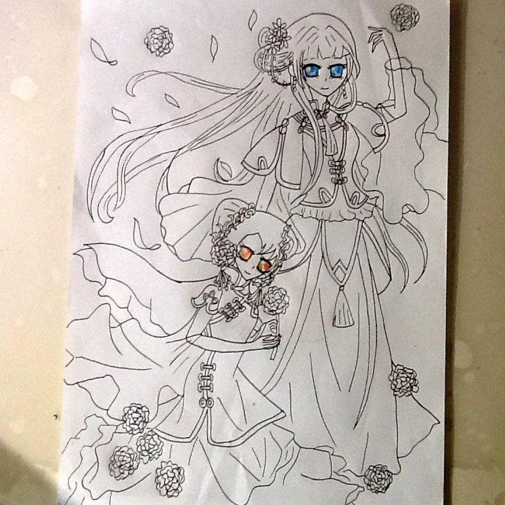 杨颖铅笔手绘画